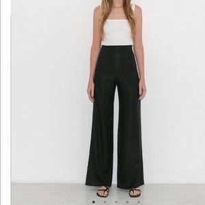 Bloomingdales Wool wide leg trouser or pant